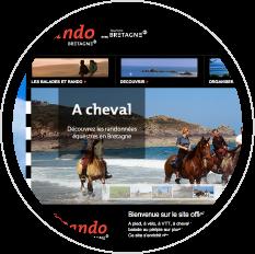 Capture d'écran Tourisme Bretagne